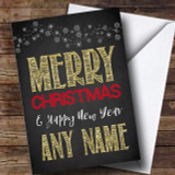 Chalk And Gold Christmas Customised Card