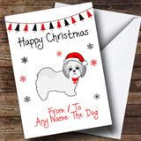 Shitzu From Or To The Dog Pet Customised Christmas Card