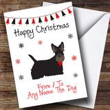 Scottish Terrier From Or To The Dog Pet Customised Christmas Card