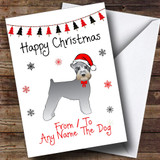 Schnauzer From Or To The Dog Pet Customised Christmas Card