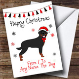 Rottweiler From Or To The Dog Pet Customised Christmas Card