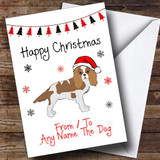 Red Charles Spaniel From Or To The Dog Pet Customised Christmas Card