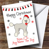 Poodle From Or To The Dog Pet Customised Christmas Card