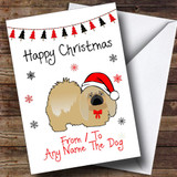 Pekingese From Or To The Dog Pet Customised Christmas Card