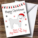 Maltese Terrier From Or To The Dog Pet Customised Christmas Card