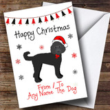 Labradoodle From Or To The Dog Pet Customised Christmas Card