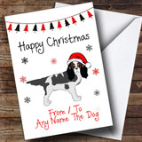 King Charles Spaniel From Or To The Dog Pet Customised Christmas Card