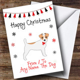 Jack Russell From Or To The Dog Pet Customised Christmas Card