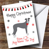 Italian Greyhound From Or To The Dog Pet Customised Christmas Card