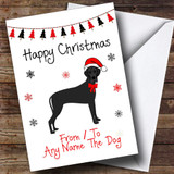 Great Dane From Or To The Dog Pet Customised Christmas Card