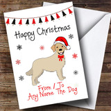Golden Retriever From Or To The Dog Pet Customised Christmas Card