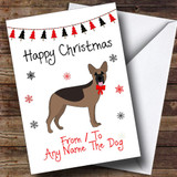 German Shepherd From Or To The Dog Pet Customised Christmas Card