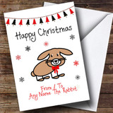 From Or To The Rabbit Pet Customised Christmas Card