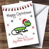 From Or To The Lizard Pet Customised Christmas Card
