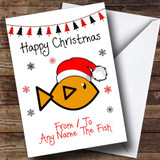 From Or To The Fish Pet Customised Christmas Card