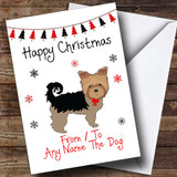 From Or To The Dog Yorkshire Terrier Pet Customised Christmas Card