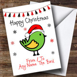 From Or To The Bird Pet Customised Christmas Card