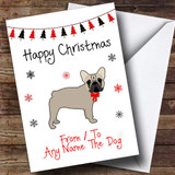 French Bulldog From Or To The Dog Pet Customised Christmas Card