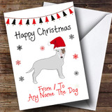 English Bull Terrier From Or To The Dog Pet Customised Christmas Card