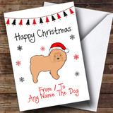 Chow Chow From Or To The Dog Pet Customised Christmas Card