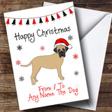 Bullmastiff From Or To The Dog Pet Customised Christmas Card