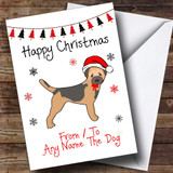 Border Terrier From Or To The Dog Pet Customised Christmas Card
