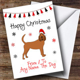 Bloodhound From Or To The Dog Pet Customised Christmas Card