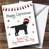 Black Labrador From Or To The Dog Pet Customised Christmas Card