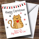 Bengal From Or To The Cat Pet Customised Christmas Card