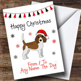 Beagle From Or To The Dog Pet Customised Christmas Card