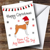 Basenji From Or To The Dog Pet Customised Christmas Card