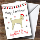 Afghan Hound From Or To The Dog Pet Customised Christmas Card