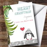 Boyfriend Penguin Customised Christmas Card