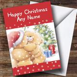 Cuddling Bears Christmas Card Customised