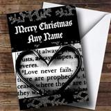 Romantic Love Script Customised Christmas Card