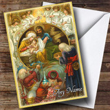 Religious Scene Vintage Traditional Customised Christmas Card