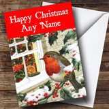 Xmas Robin Christmas Card Customised