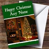 Stunning Christmas Tree Green Christmas Card Customised