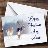 Reindeer Christmas Card Customised