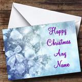 Pale Blue Christmas Card Customised