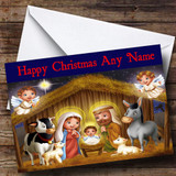 Nativity Scene Christmas Card Customised