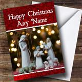Nativity Lights Christmas Card Customised