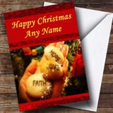Hope Faith Love Christmas Card Customised