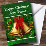 Green Bells Christmas Card Customised