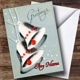 Grey Bells Vintage Traditional Customised Christmas Card