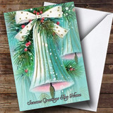 Drooping Bell Vintage Traditional Customised Christmas Card