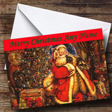 Traditional Santa Clause Father Xmas Customised Christmas Card