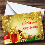 Red Present Customised Christmas Card