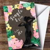 Single Floral & Dark Hessian Divorce / Break Up Customised Card