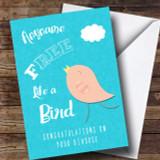 Free Like A Bird Divorce / Break Up Customised Card